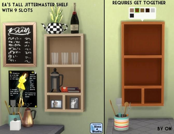 Tall Jittermaster Shelf With 9 Slots At Sims 4 Studio