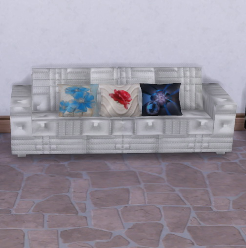 Sims 4 Leather Sofa and pillows at Trudie55