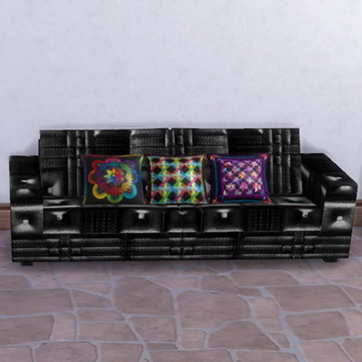 Leather Sofa and pillows at Trudie55 image 2184 Sims 4 Updates