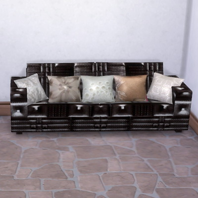 Leather Sofa and pillows at Trudie55 image 2194 Sims 4 Updates
