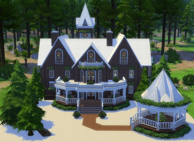 Sims 4 Victorian Gingerbread House at SIMplicity