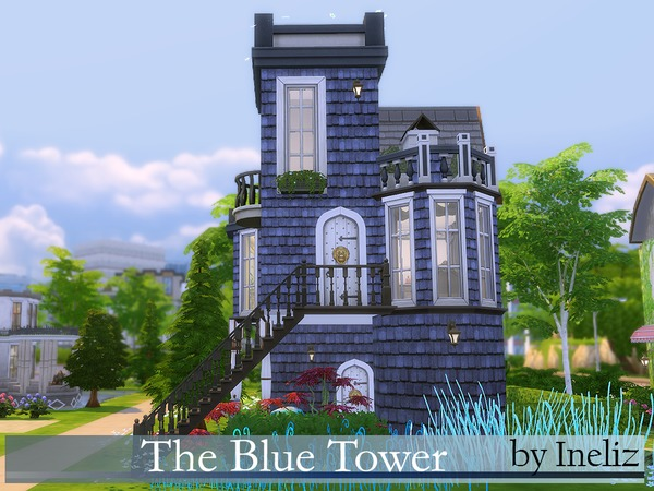 The Blue Tower by Ineliz at TSR image 23 Sims 4 Updates