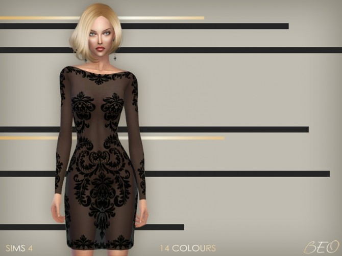 Sims 4 Anveay dress 02 at BEO Creations