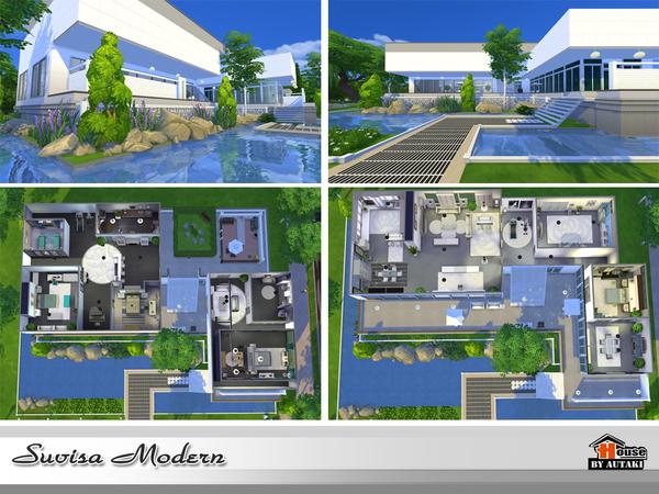 Suvisa Modern house by autaki at TSR image 2315 Sims 4 Updates