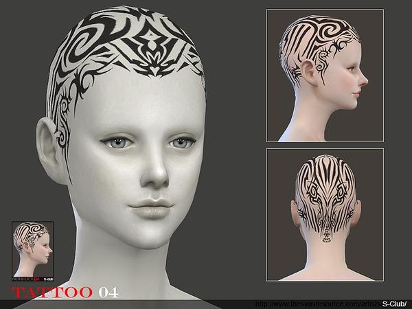 Tattoo Head 04 by S Club WM at TSR image 2338 Sims 4 Updates