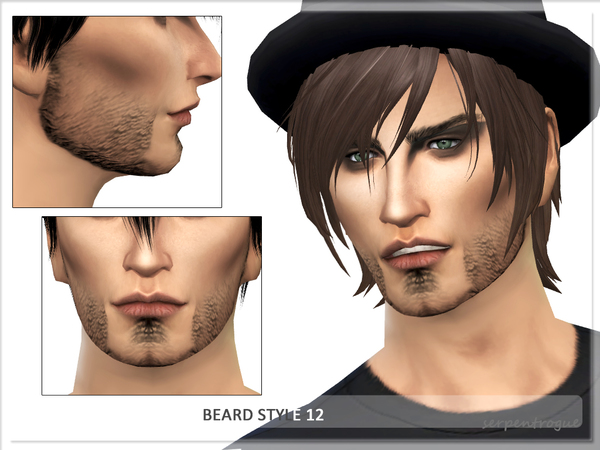 Sims 4 Beard Style 12 by Serpentrogue at TSR