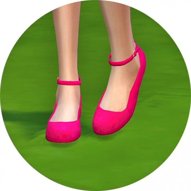 Sims 4 Ankle strap flat shoes at Marigold