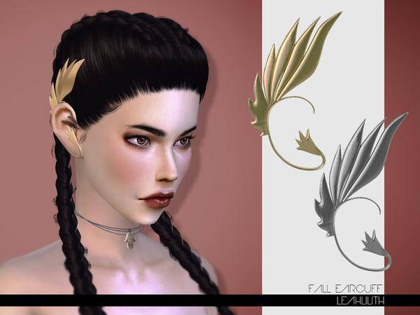 Sims 4 Fall Earcuff by LeahLilith at TSR