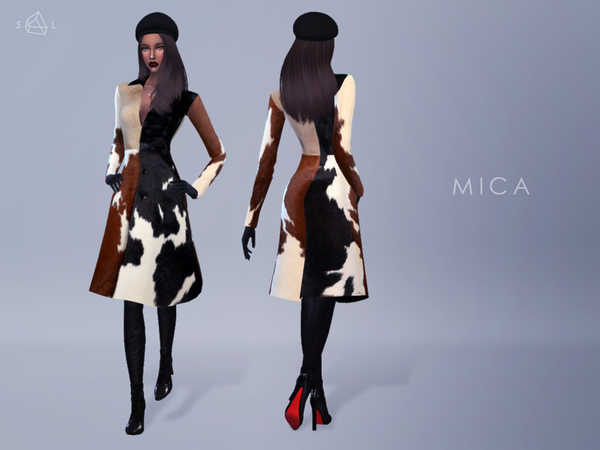 Sims 4 Pony Hair Coat MICA by starlord at TSR