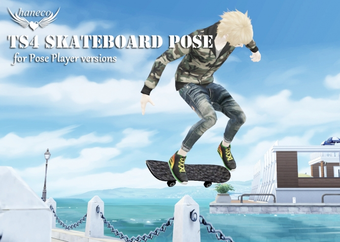 Skateboard Poses At Haneco S Box 187 Sims 4 Updates