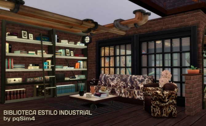 Industrial Style Study Room at pqSims4 image 2562 670x410 Sims 4 Updates