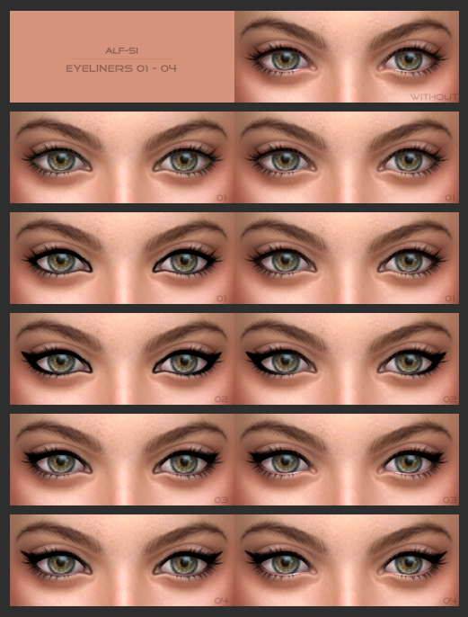 Eyeliners Eyebrows At Alf Si Sims 4 Updates