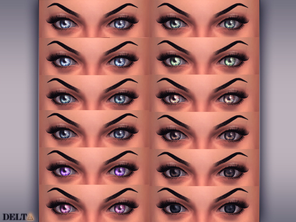Sims 4 Cristal Eyes & Eyescolors by DELTΔ at TSR