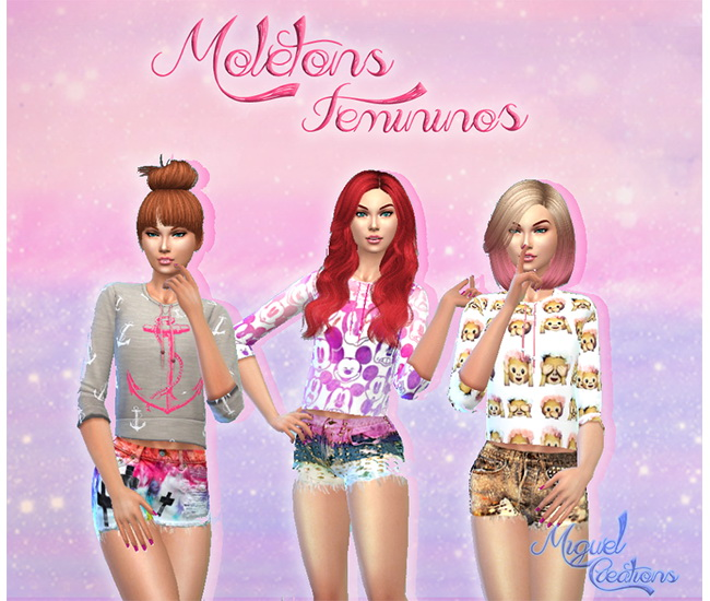 Sims 4 Tops for females at Victor Miguel