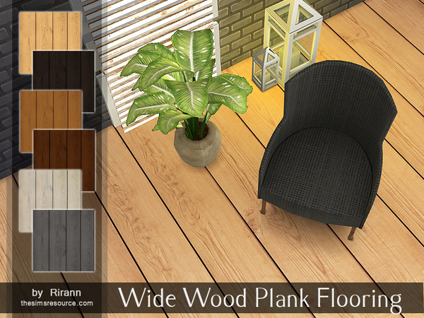 Wide Wood Plank Flooring By Rirann At Tsr 187 Sims 4 Updates