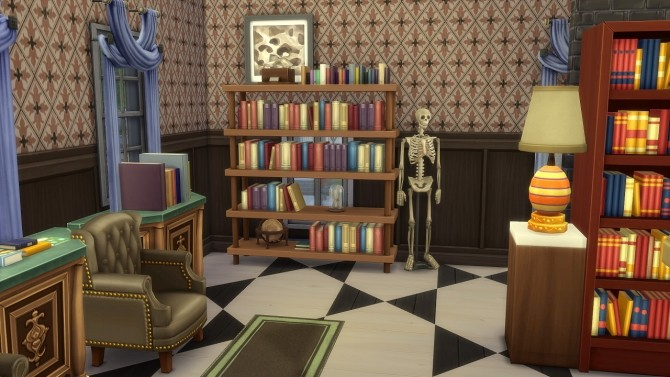 Sims 4 Antique Bookstore at Jool's Simming
