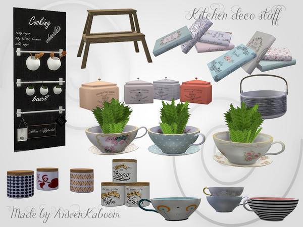 Kitchen Deco Stuff by ArwenKaboom at TSR image 27 Sims 4 Updates