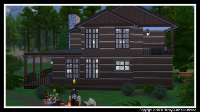 Sims 4 Christmas Hideaway house at Harley Quinn's Nuthouse