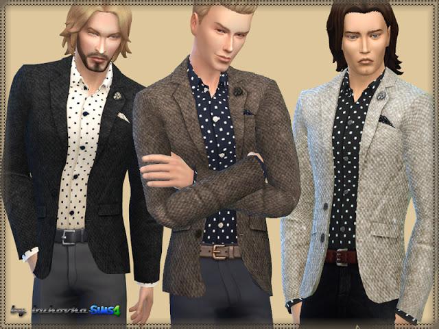 Sims 4 Tweed Jacket at Bukovka