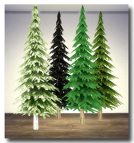 Sims 4 Spiegelsplitter's Xmas Trees at Msteaqueen