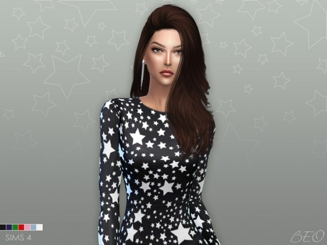 Sims 4 Stars dress at BEO Creations