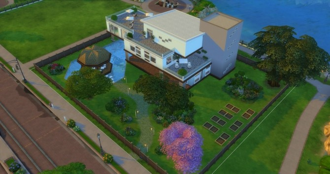 Vue Grande Modern Mansion by Jan Cimmerian at Mod The Sims image 2818 670x355 Sims 4 Updates