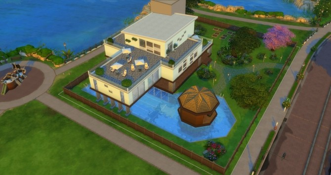 Vue Grande Modern Mansion by Jan Cimmerian at Mod The Sims image 2916 670x355 Sims 4 Updates