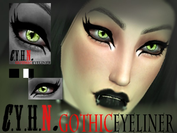 CYHN GothicEyeliner by Chung Yan Hei at TSR image 2917 Sims 4 Updates