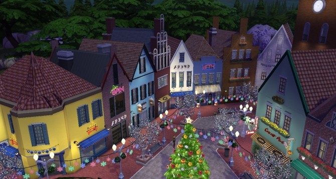 Sims 4 Old Town 08 Christmas version at SimsDelsWorld