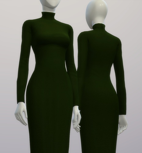 Turtle Neck Sweater Dress At Rusty Nail 187 Sims 4 Updates