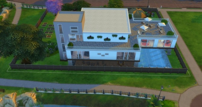 Sims 4 Vue Grande Modern Mansion by Jan Cimmerian at Mod The Sims