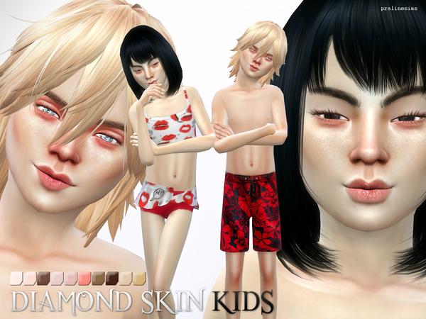 Sims 4 PS Diamond Skin KIDS by Pralinesims at TSR
