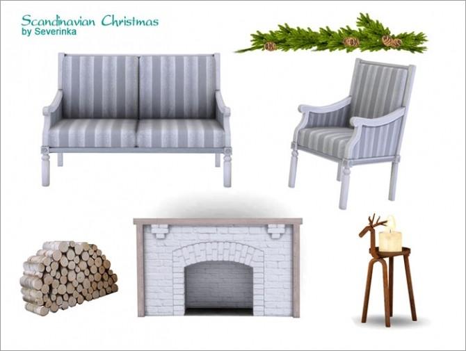 Sims 4 Scandinavian Christmas deco set at Sims by Severinka