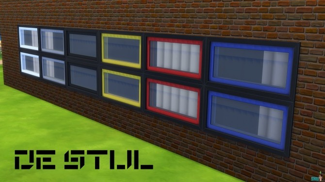 De Stijl Windows by Rosana at Sims Network – SNW image 312 670x375 Sims 4 Updates