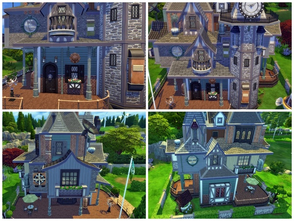 Sims 4 Steampunk Towers by Arelien at TSR