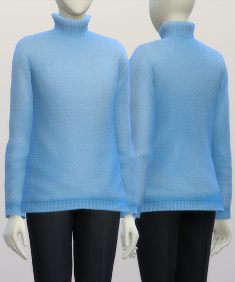 Turtleneck sweater F solid (16 colors) at Rusty Nail image 322 Sims 4 Updates