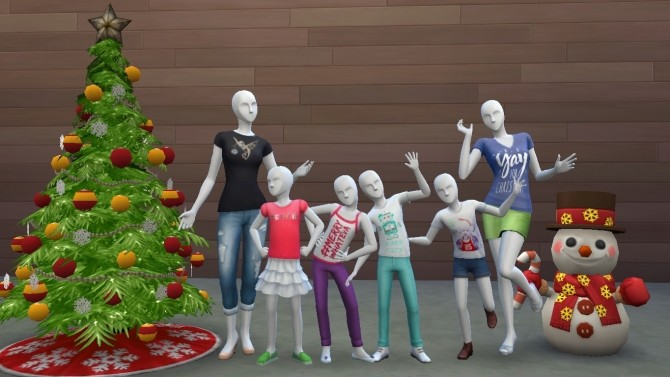 Sims 4 Christmas Apparel 2015 Collection by Deontai at Mod The Sims