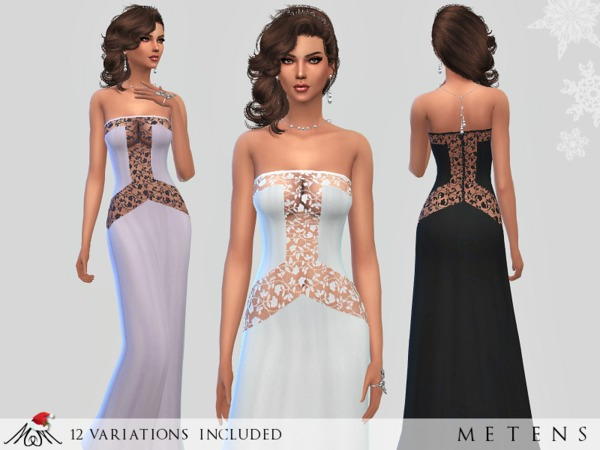Sims 4 Gravity gown by Metens at TSR