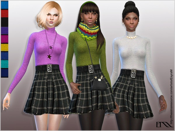 Sims 4 Jolene Dress by EsyraM at TSR