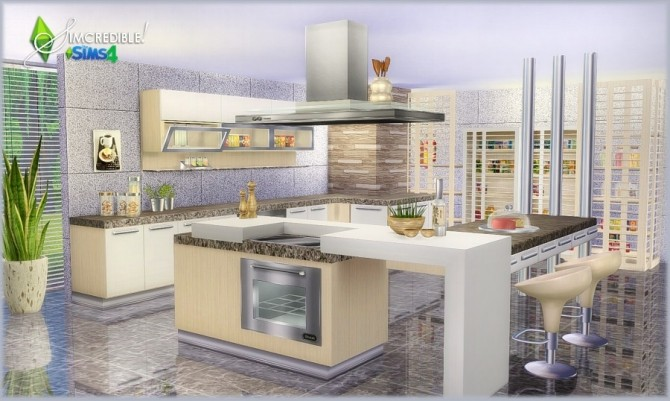 Form and function kitchen donation at simcredible for Sims 2 kitchen ideas
