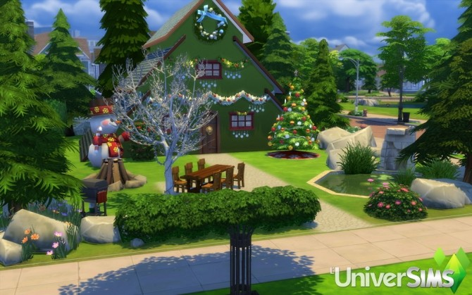 Sims 4 Christmas Tree house by Bouckie at L'UniverSims
