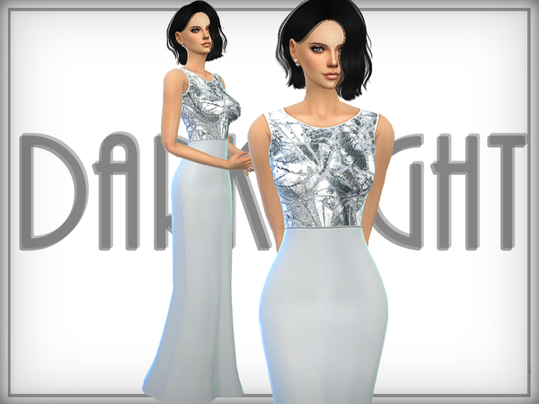 Sims 4 Sequined Gown by DarkNighTt at TSR