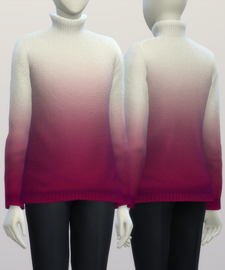 Turtleneck sweater F solid (16 colors) at Rusty Nail image 332 Sims 4 Updates