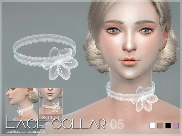 Lace collar 05 by S Club LL at TSR image 3322 Sims 4 Updates