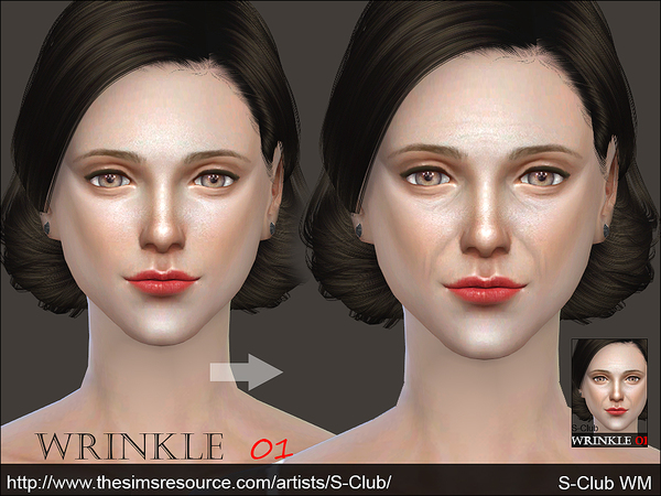 Sims 4 Wrinkle 01 by S Club WM at TSR