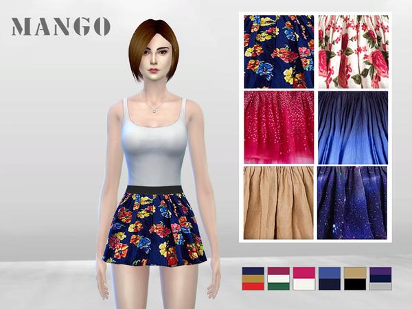 Sims 4 Fashionistas Skater Skirt (Pinny) by McLayneSims at TSR