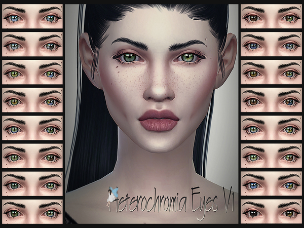 Heterochromia Eyes V1 by Ms Blue at TSR » Sims 4 Updates