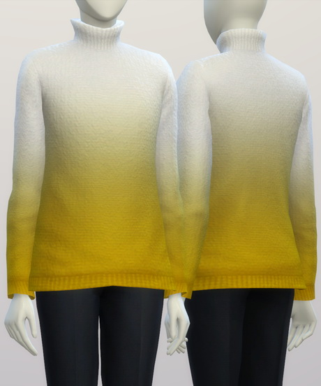 Turtleneck sweater F solid (16 colors) at Rusty Nail image 342 Sims 4 Updates