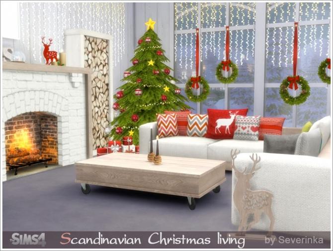 Scandinavian Christmas Living At Sims By Severinka 187 Sims