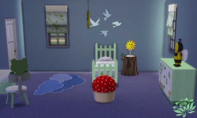 Sims 4 Nature room for kids by Maman Gateau at Sims Artists